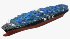 Container ship MSC Ariane 3D Model