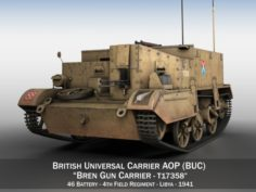 Bren Gun Carrier – BUC – T17358 3D Model