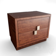 Bedside table with glass                                      Free 3D Model