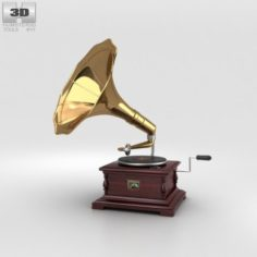 His Masters Voice Gramophone 3D Model