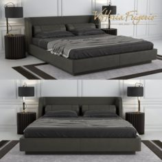 Bed Bellini vittoria frigerio 3D Model