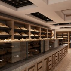 Bagel Bakery Interior 01 V2 3D Model