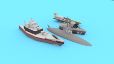 Ships 3D Model