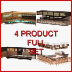 Bar Furniture Set 03 3D Model
