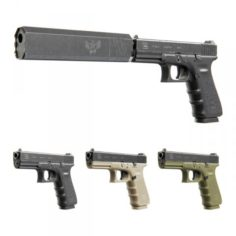 Glock 17 with Silencer Osprey 9 3D Model