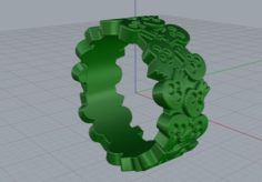 Jewellery ring skull Free 3D Model