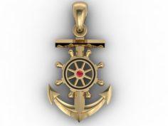 Anchor pendant 3D Model