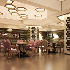 Cafe Interior 07 V1 3D Model