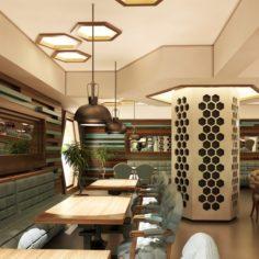 Cafe Interior 07 V2 3D Model