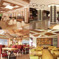 Cafe Interior Set 04 3D Model
