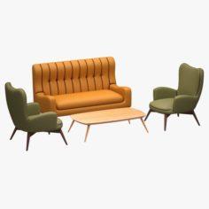Sofa Set 05 3D Model