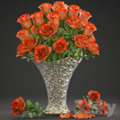 Collection of flowers 14. Roses.                                      3D Model