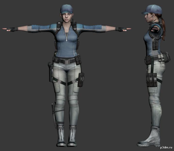 Jill Valentine (STARS) 3D Model