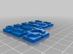 Raised Keyboard Letters – Elementary School 3D Print Model