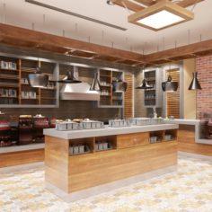 Cafe Interior 09 3D Model