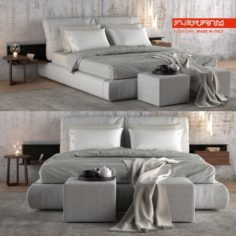 Bed Flexform Newbridge 3D Model