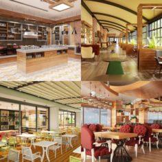 Cafe Interior Set 03 3D Model