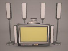 Plazma screen Speaker 3D Model