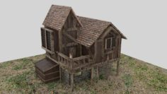 Medieval House 4K 3D Model