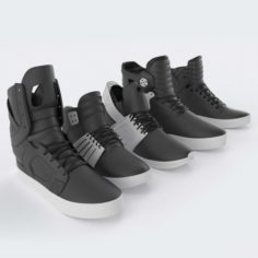 Supra Skytop Shoes Collection 3D Model