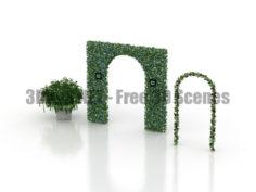 Novello Flowers Decor Garden vase arches 3D Collection