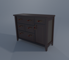 Dresser and NightStand 3D Model