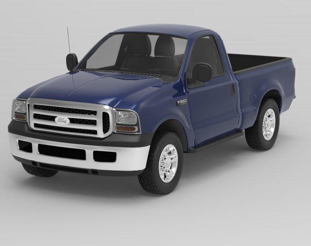 F250 2000 3D Model