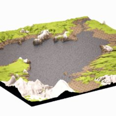 Mountain 04 HIGHPOLY 3D Model