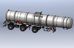 SR TANQUE AI CIL 2120 x 45000L 3 ED-Oil and gas storage tanker 2120 x 45000L 3D Model