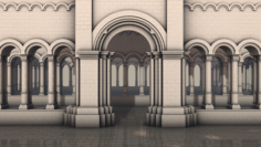 Royal gateway 3D Model