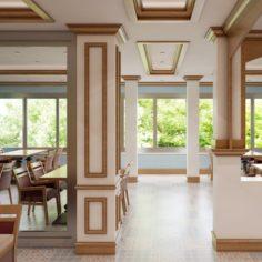 Restaurant Interior 03 3D Model