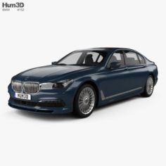 BMW 7 Series G12 B7 Alpina 2017 3D Model