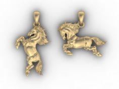 Horse pendant 3D Model