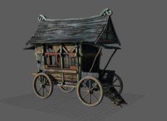 Fancy Medieval Caravan 3D Model