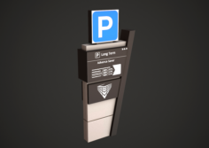 Parking Stand Low Poly 3D Model