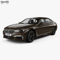 BMW M7 G12 2017 3D Model