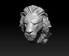 Lion head statue 3D Model