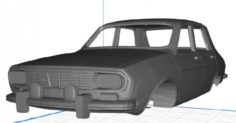 Renault 12 Body Car 3D Model