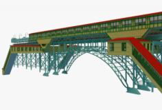 NYC bridge – metro station 3D Model