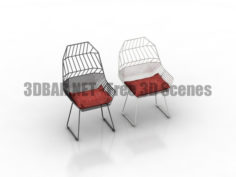Metal chairs 3D Collection