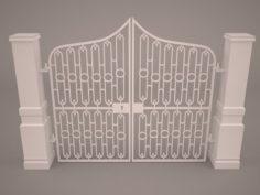 Gate Driveway 3D Model
