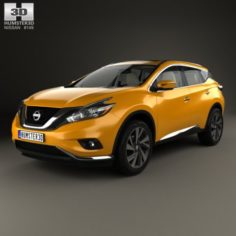 Nissan Murano Z52 with HQ interior 2014 3D Model