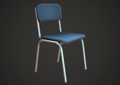 Chair Low Poly Mobile 3D Model