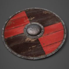 Wooden Shield model 3D Model