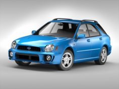 Subaru Impreza Wagon 2000 – 2007 3D Model