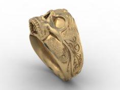 Jewellery ring skull 3D Model