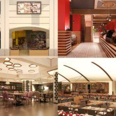 Cafe Interior Set 02 3D Model