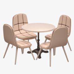Cafe Dinner Set 14 3D Model