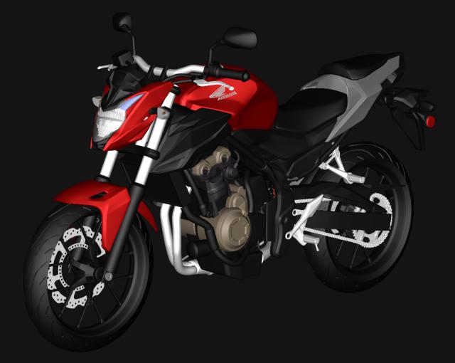 Cb500f 2016 3D Model