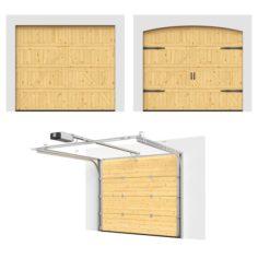 Sectional gates Hormann Motive 405 open – closed 3D Model